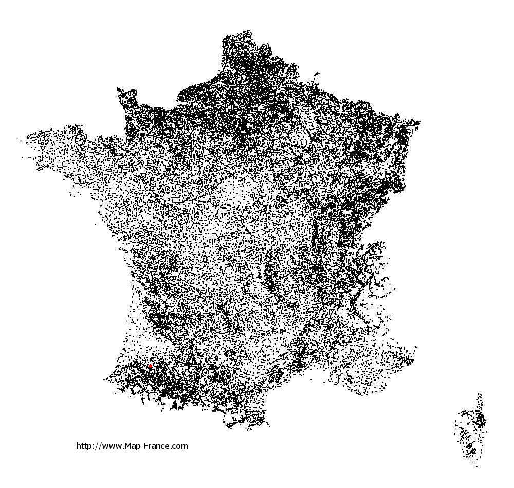 Classun on the municipalities map of France