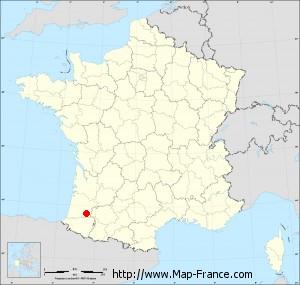 Small administrative base map of Vielle-Tursan