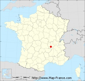Small administrative base map of Aveizieux