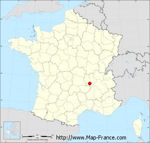 Small administrative base map of L'Étrat