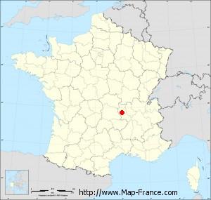 Small administrative base map of Sainte-Agathe-la-Bouteresse