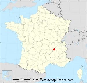 Small administrative base map of Saint-Pierre-de-Bœuf