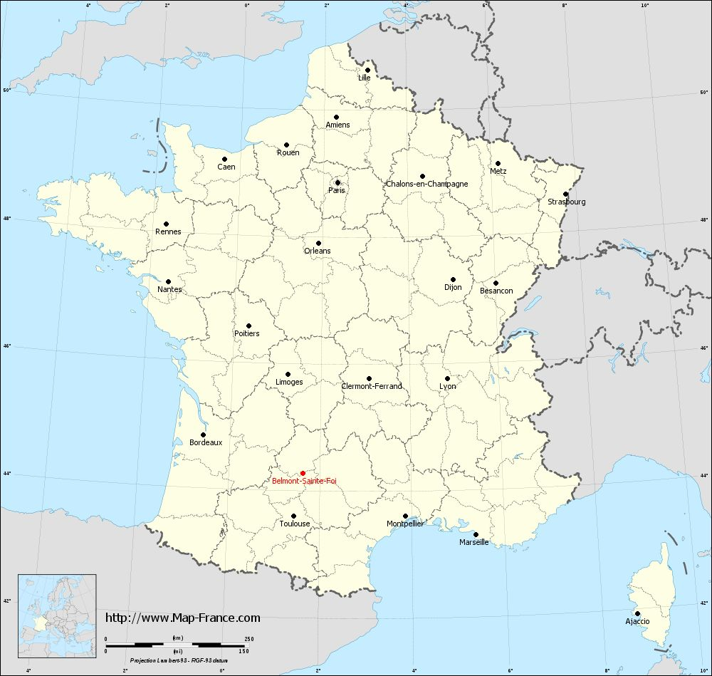 Carte administrative of Belmont-Sainte-Foi