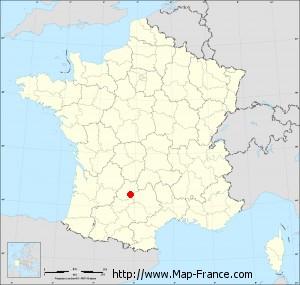 Small administrative base map of Calvignac