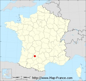 Small administrative base map of Cézac