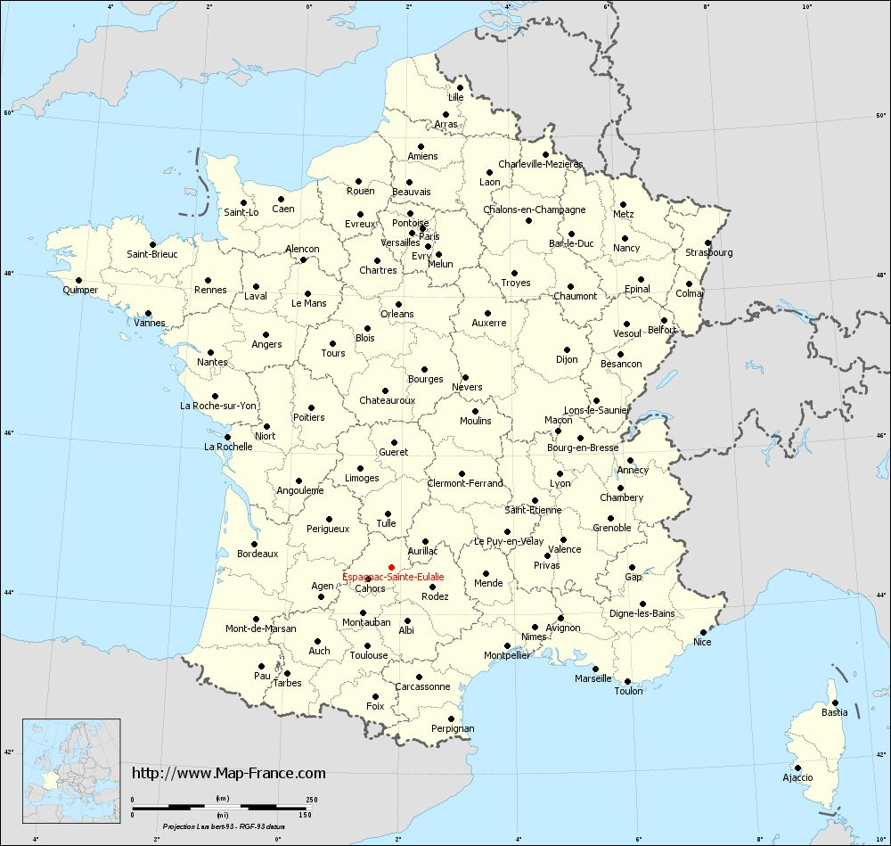 Administrative map of Espagnac-Sainte-Eulalie