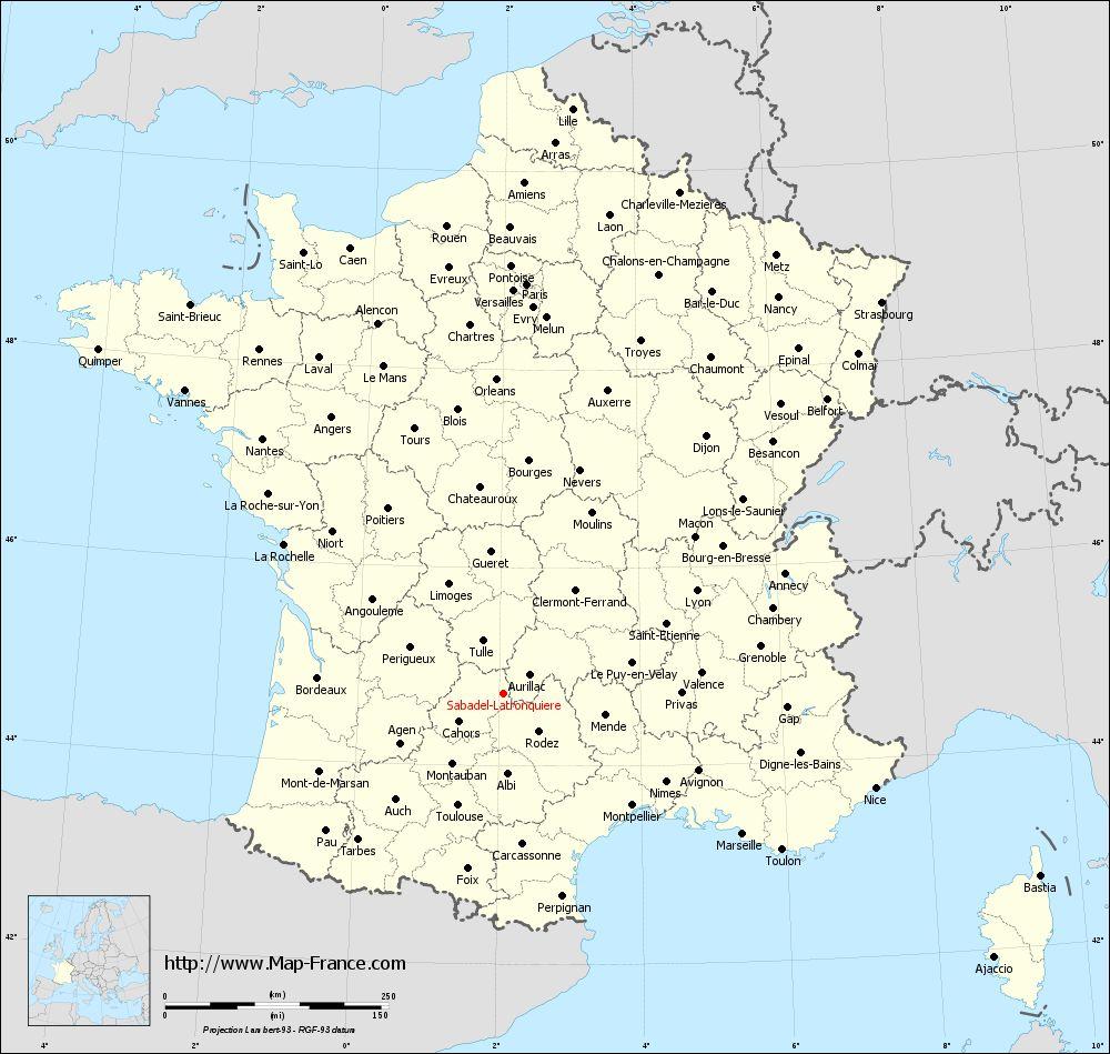 Administrative map of Sabadel-Latronquière