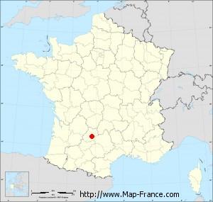 Small administrative base map of Sauliac-sur-Célé