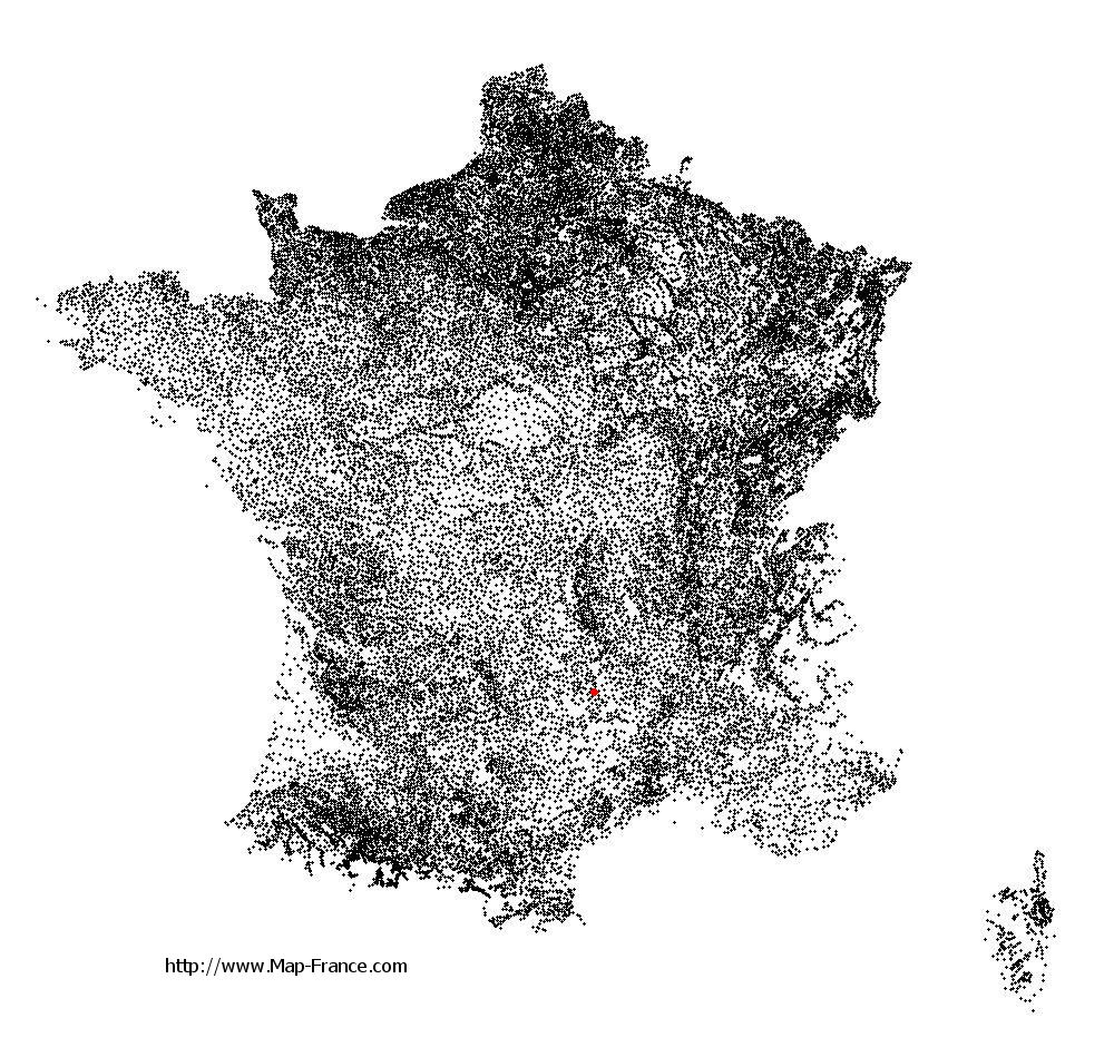 Rimeize on the municipalities map of France