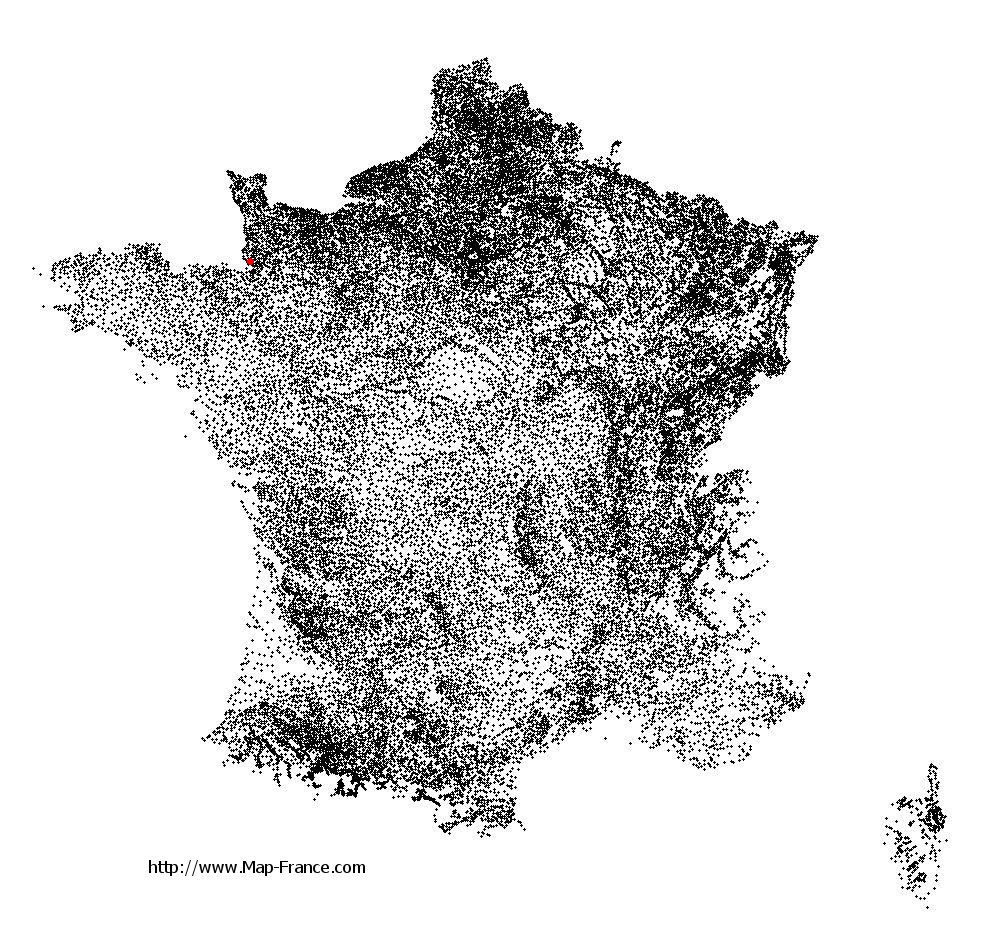 Champcey on the municipalities map of France