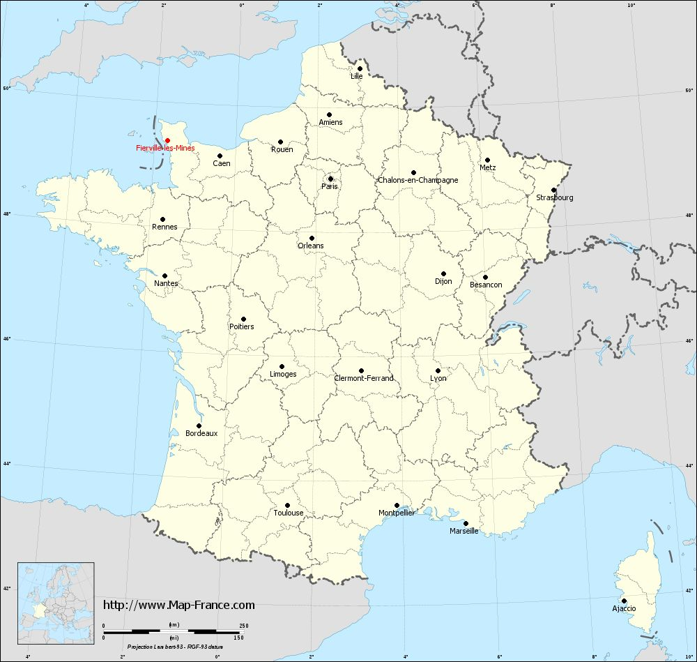 Carte administrative of Fierville-les-Mines