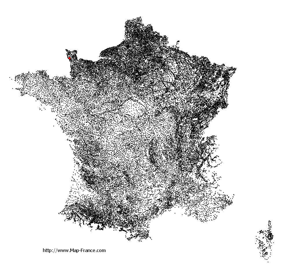 Fierville-les-Mines on the municipalities map of France