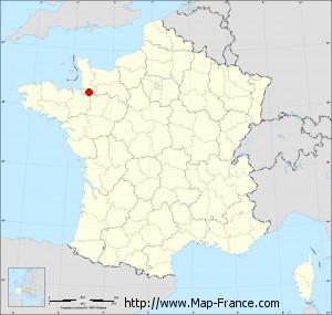 Small administrative base map of Saint-Brice-de-Landelles