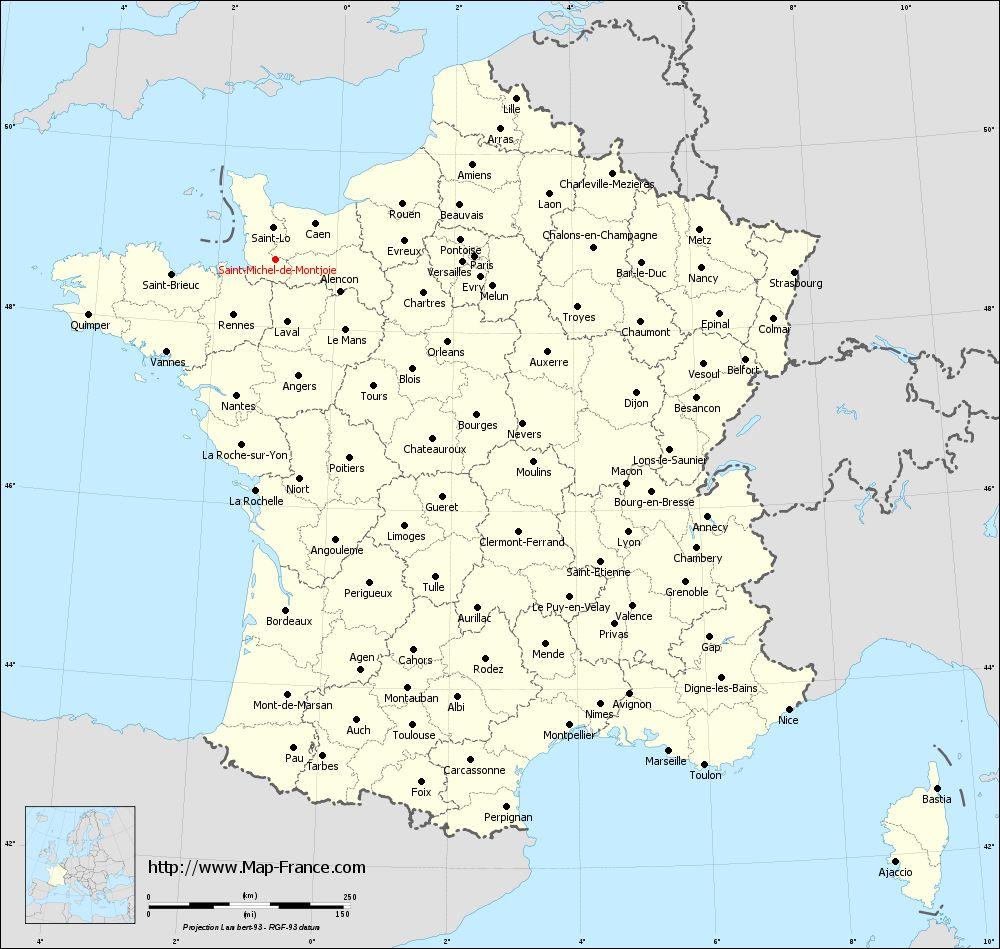 Administrative map of Saint-Michel-de-Montjoie