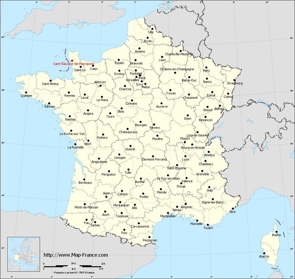 Administrative map of Saint-Sauveur-de-Pierrepont