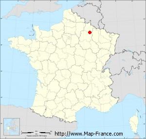 Small administrative base map of Cernay-en-Dormois