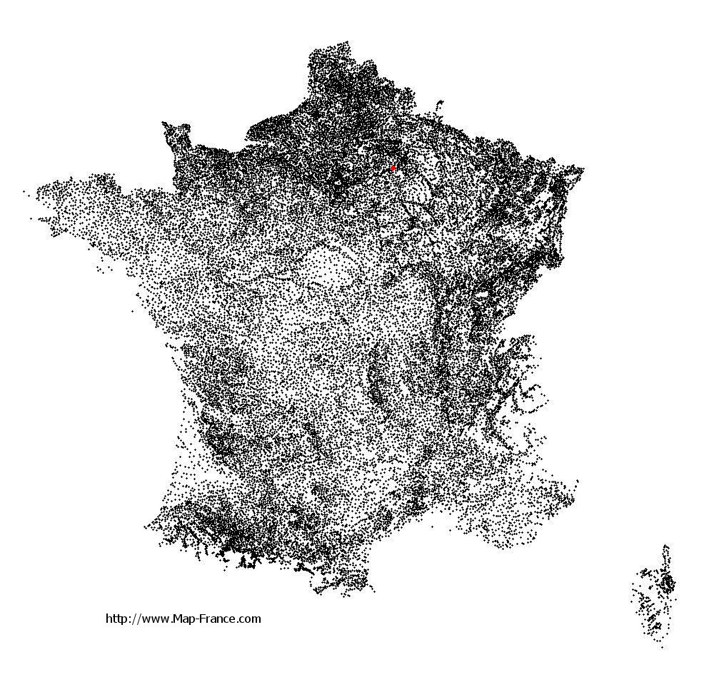 Vincelles on the municipalities map of France