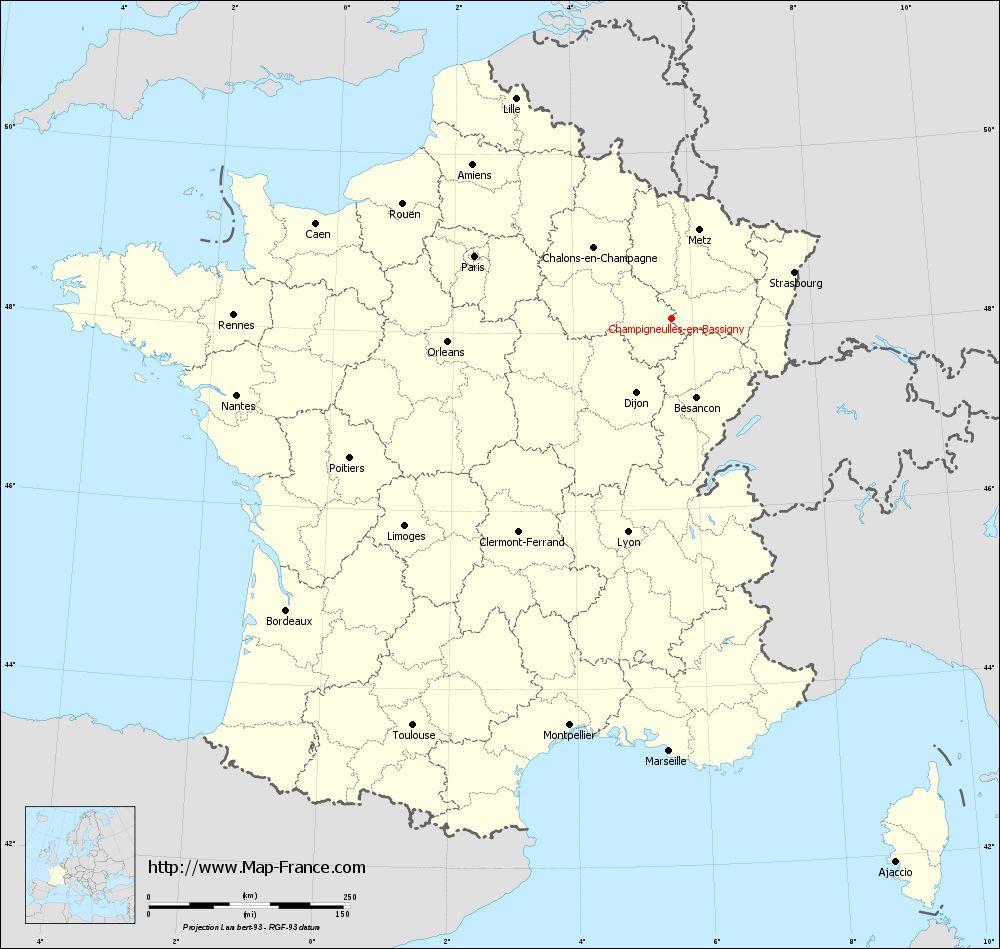 Carte administrative of Champigneulles-en-Bassigny