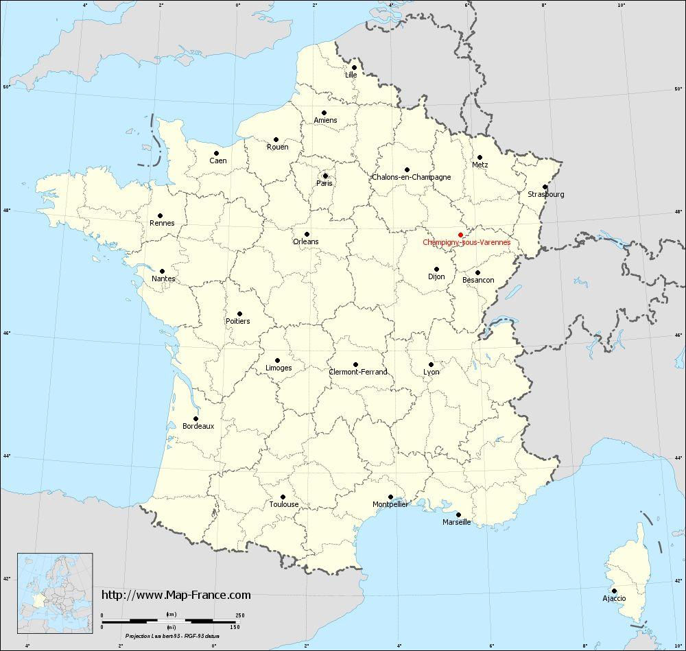 Carte administrative of Champigny-sous-Varennes