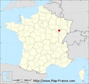 Small administrative base map of Chaudenay