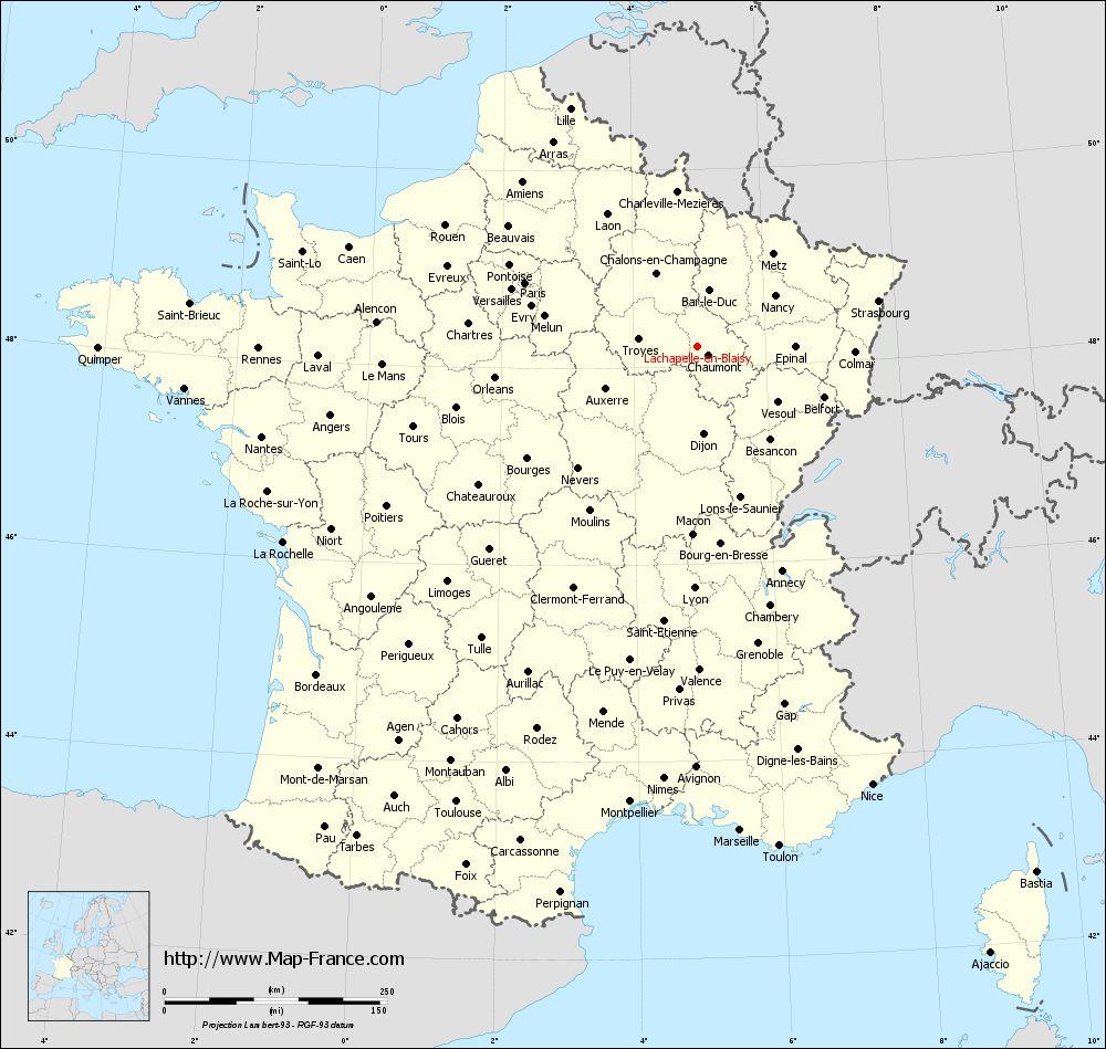 Administrative map of Lachapelle-en-Blaisy