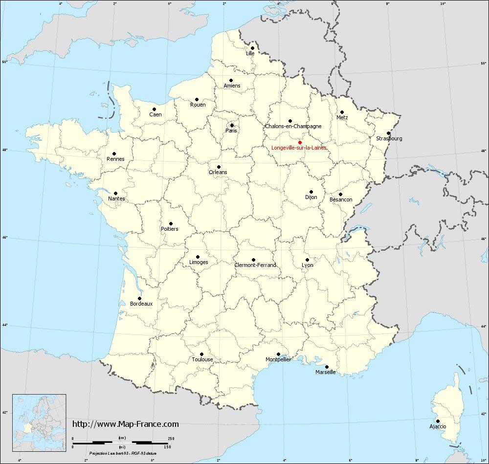 Carte administrative of Longeville-sur-la-Laines