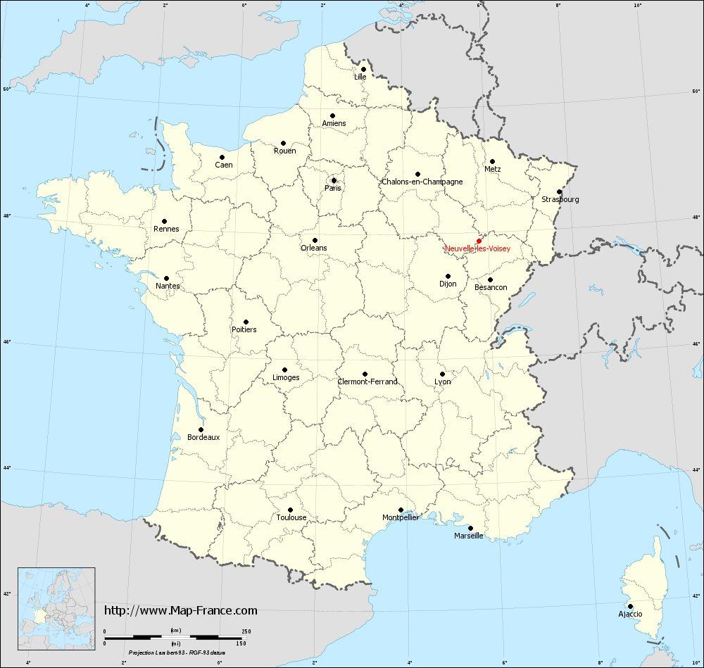 Carte administrative of Neuvelle-lès-Voisey