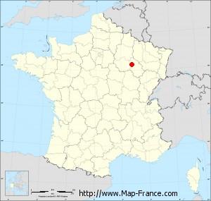 Small administrative base map of Rizaucourt-Buchey