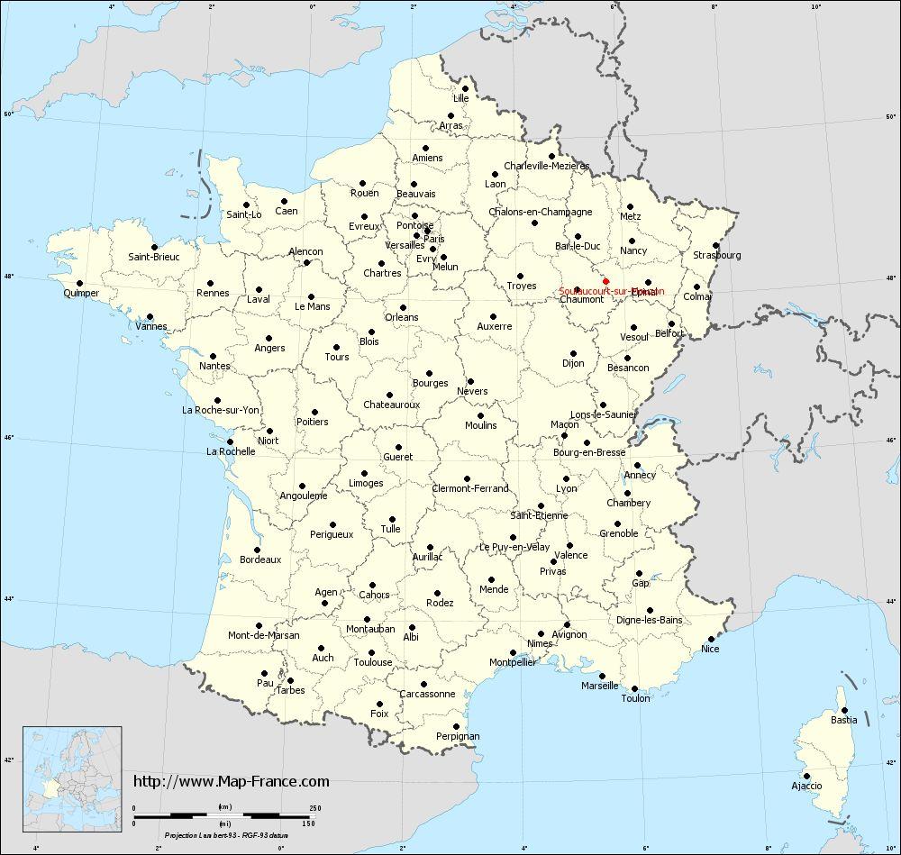 Administrative map of Soulaucourt-sur-Mouzon