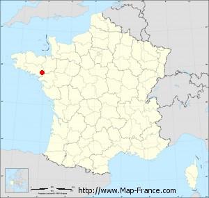 Small administrative base map of Saint-Vincent-sur-Oust