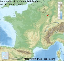 Le Val-de-Guéblange on the map of France