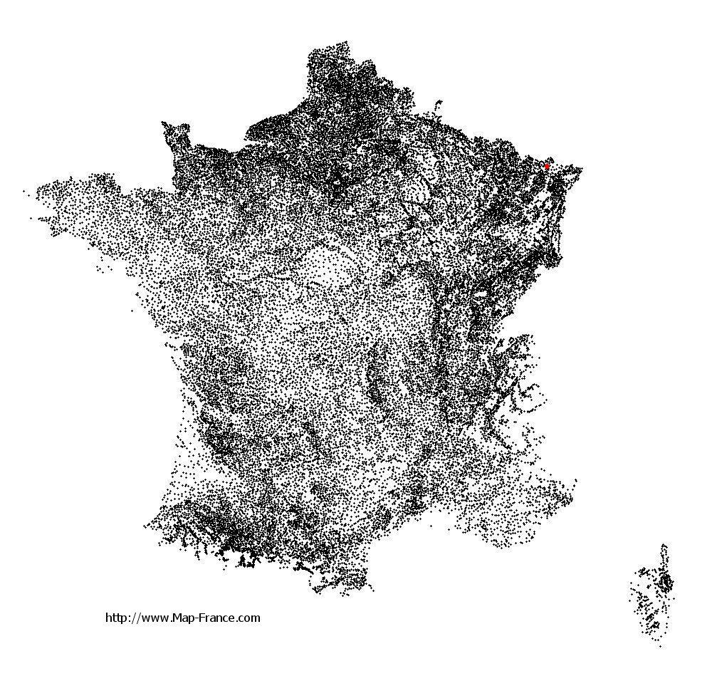 Lambach on the municipalities map of France