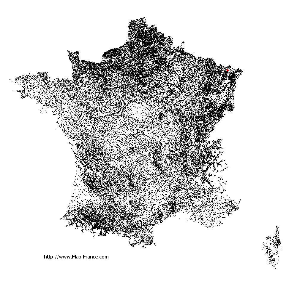 Montbronn on the municipalities map of France