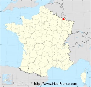 Small administrative base map of Thionville