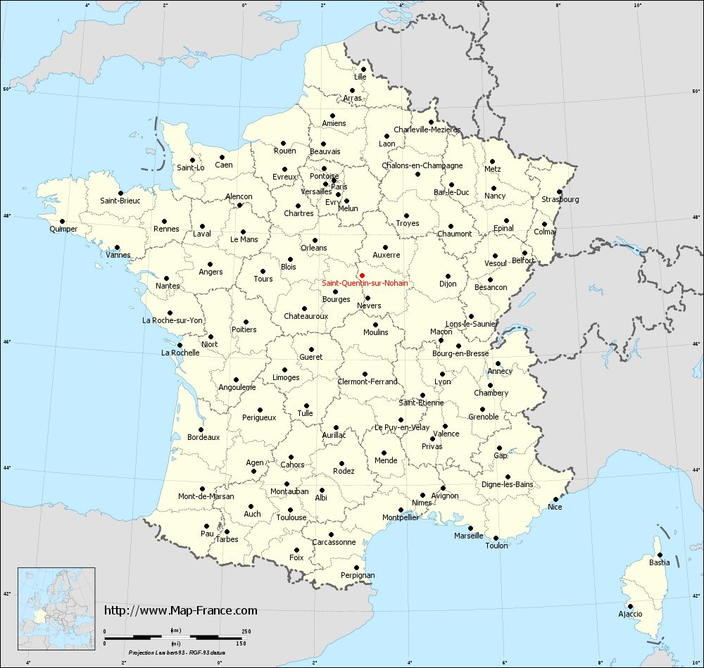 Administrative map of Saint-Quentin-sur-Nohain