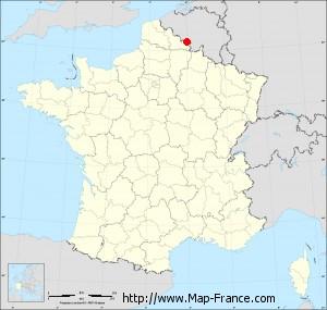 Small administrative base map of Boussois