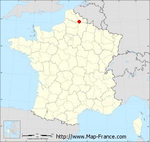 Small administrative base map of Lesdain