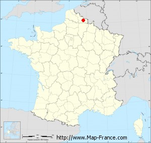 Small administrative base map of Raucourt-au-Bois