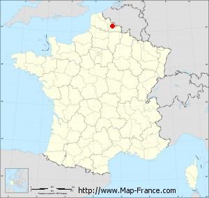 Small administrative base map of Wavrechain-sous-Denain