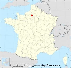 Small administrative base map of Jaméricourt