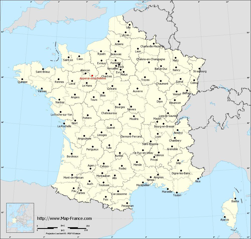 Administrative map of Appenai-sous-Bellême