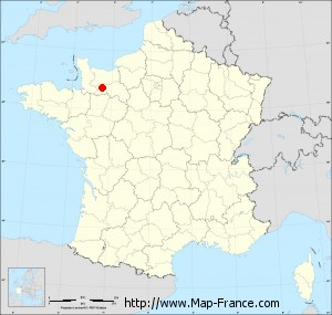 Small administrative base map of Bellou-en-Houlme