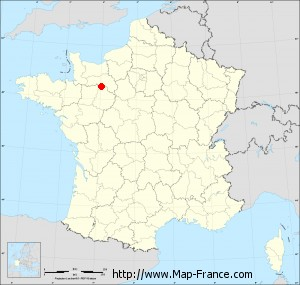 Small administrative base map of Damigny