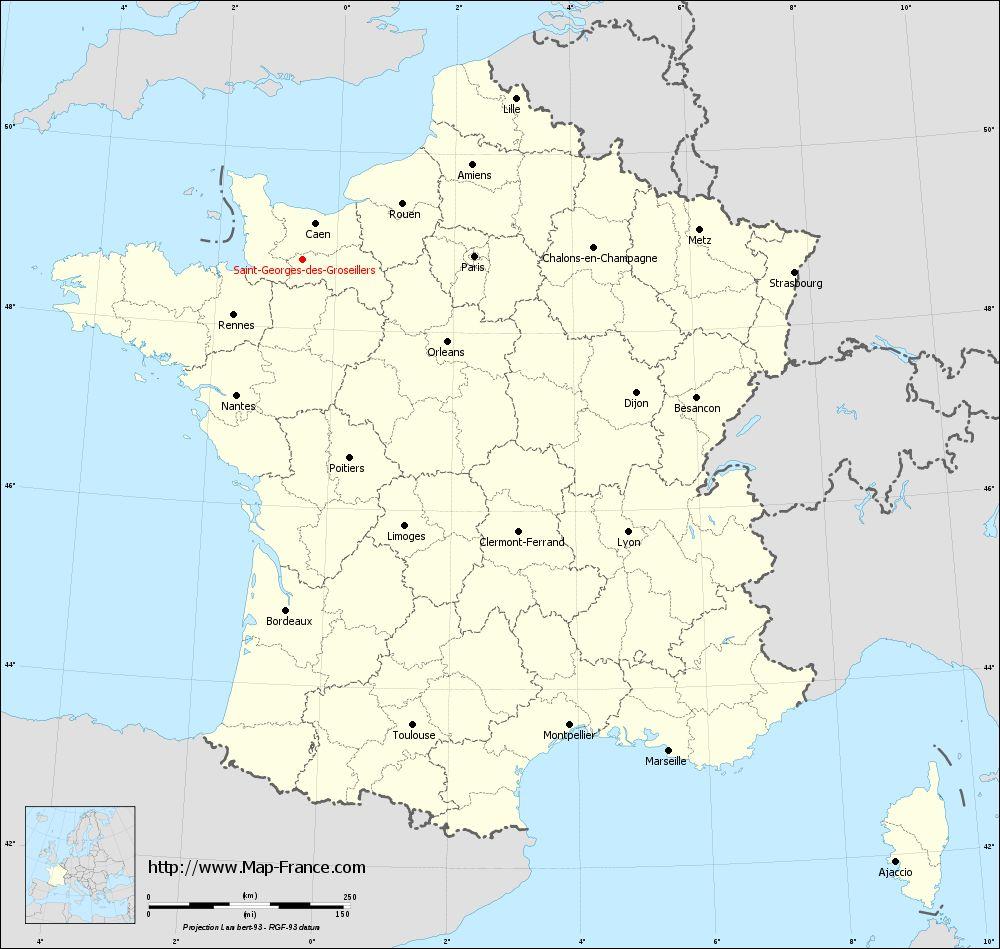 Carte administrative of Saint-Georges-des-Groseillers