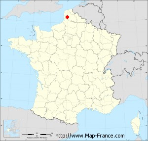 Small administrative base map of Cavron-Saint-Martin