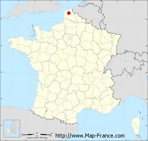 Small administrative base map of Leulinghem