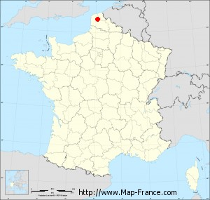Small administrative base map of Wavrans-sur-l'Aa