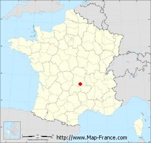 Small administrative base map of Auzat-la-Combelle