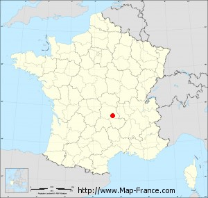 Small administrative base map of Saint-Genès-la-Tourette