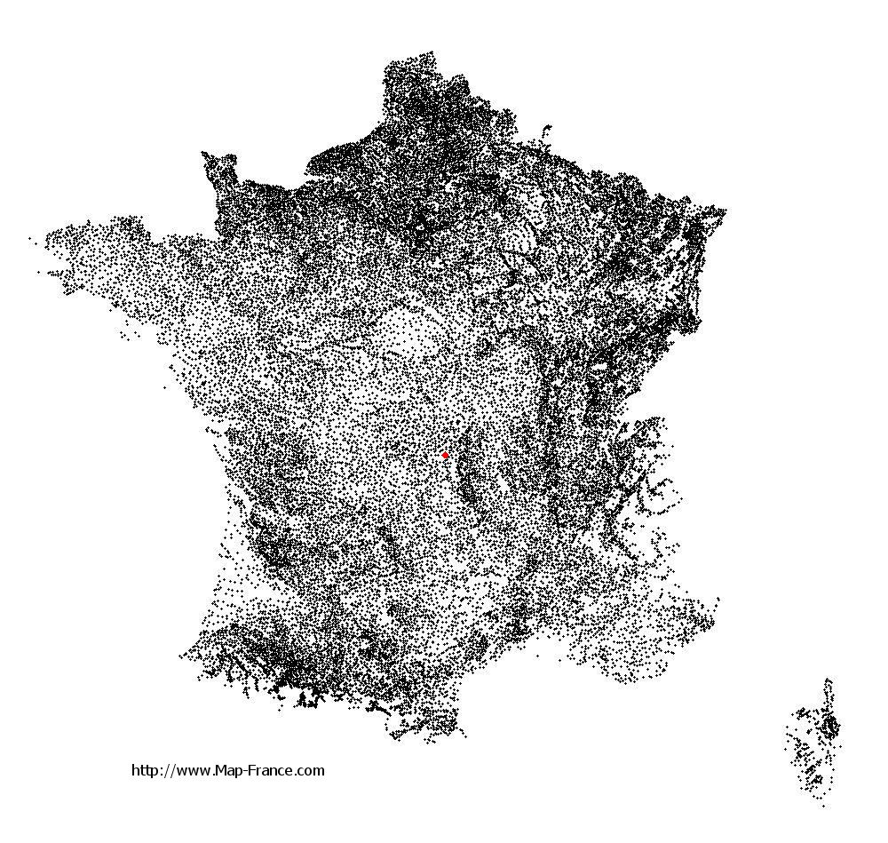 Sauret-Besserve on the municipalities map of France